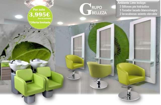 Muebles De Peluqueria Completa 1840 Lavacabezas A 360 ...