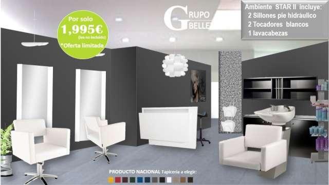 Muebles de peluquería completa 1840?, lavacabezas a 360? en Barcelona, España...