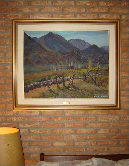José américo malanca, importante pintura al óleo original