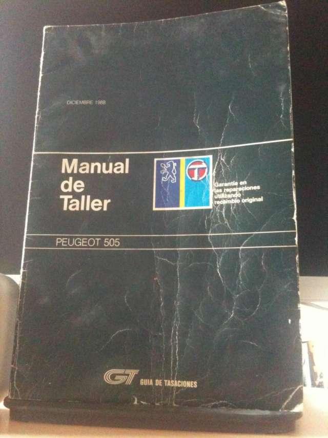 Manual de taller para peugeot 505 en perfecto estado