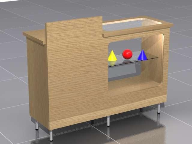 Mostradores para comercio trendy vitrina mostrador para - Mostradores de madera para negocios ...