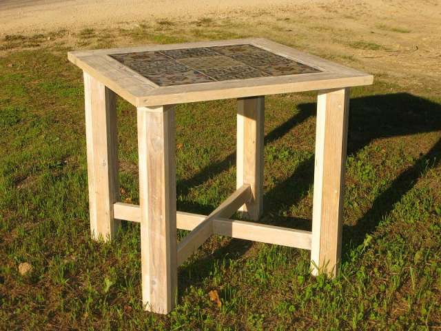Mesa madera reciclada mesa de exterior madera reciclada tratada con pigmentos naturales dsc dsc - Mesa madera reciclada ...
