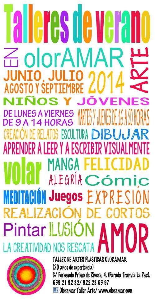 Talleres de verano para niños y jóvenes agosto 2014.
