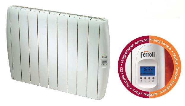 Emisor térmico digital soft plus 1000w, 8 elementos