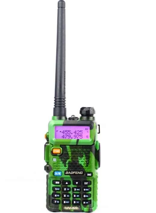 Emisora walkie talkie baofeng uv5r bibanda uhf/vhf color camuflaje mimetizado