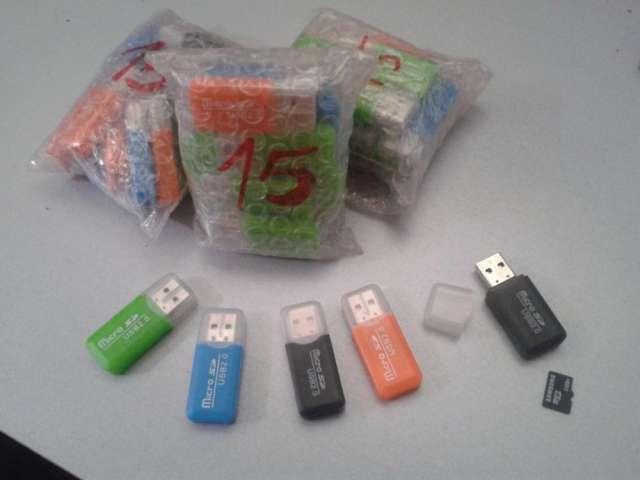 Lector de tarjetas micro-sd. usb 2. 0. 45 unidades
