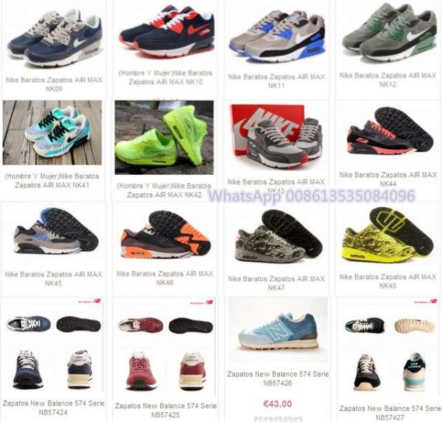 Los nuevos zapatos llegada de marca, como nike air max serie, zapatos addidas, new balance;