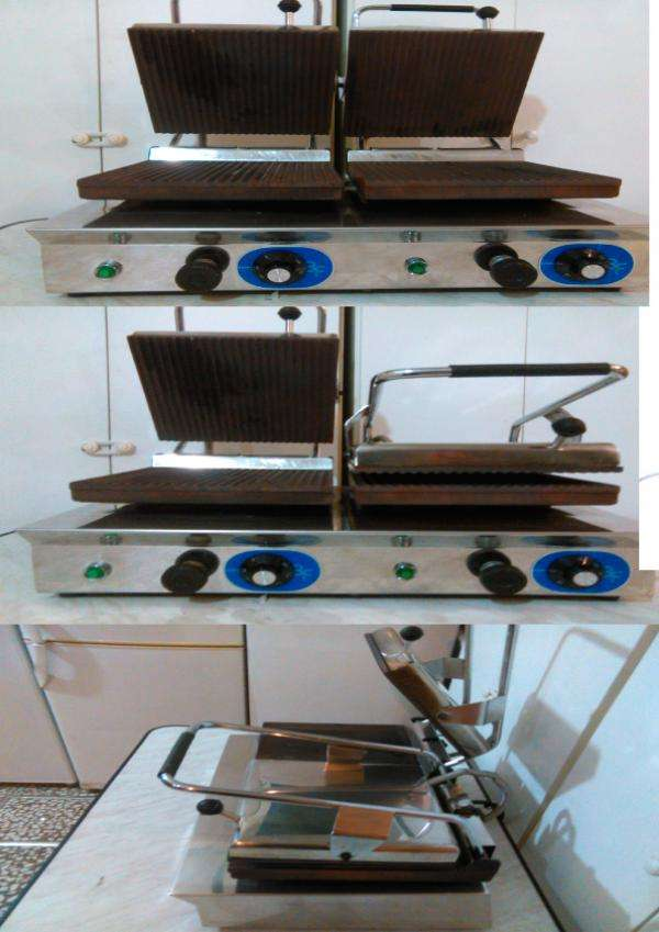Plancha electrica grill doble