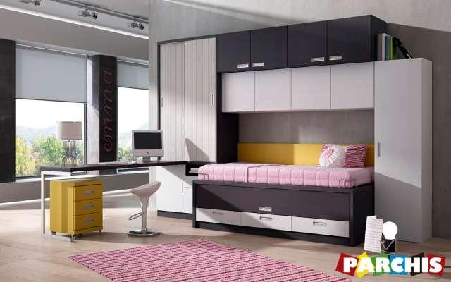 Muebles parchis, mueble juvenil, camas literas y escritorios abatibles,camas-nido