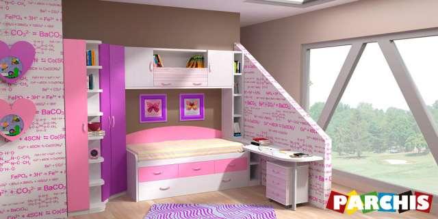 Muebles parchis, mueble juvenil, camas literas y escritorios abatibles, canapés, camas-nido