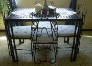 Mesa en hierro forjado
