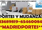 MUDANZAS C/EXPERTOS:65/46OO8-47:PORTES ECONOMICOS EN BARRIO DEL PILAR