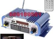 Amplificador moto coche radio fm estereo, usb, sd