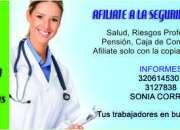 Afiliaciones a toda la seguridad social