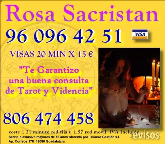 Vidente rosa sacristán 960964251 oferta tarot visa 20 min por 15 €