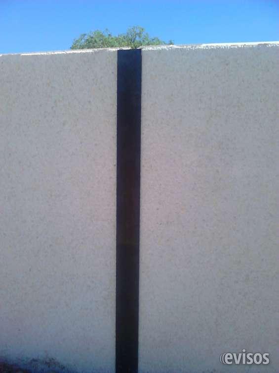 Cerramientos de paneles de hormigón para naves, parcelas, solares y edificios.