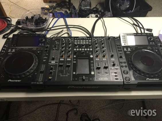 2x pioneer cdj2000 nexo y djm2000 nexo mezclador