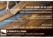 Instaladores de suelos laminados tarimas y frisos