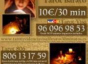 Tarot y videncia visa 5€ por 15 minutos