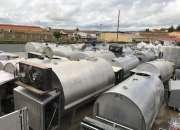 Tanques de leche y  maquinaria para queserias