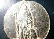 Medalla san antonio abad en oro y en plata.