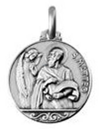 Medallas san mateo en oro y plata