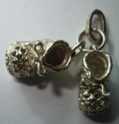 Colgantes patucos zapatitos de bebe oro plata