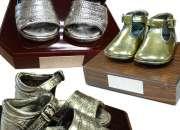 Zapatitos de bebe bañados en oro plata bronce, et…