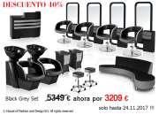 Muebles de salón de tonos grises en estilo moderno!