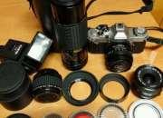 Equipo de fotografia analogico.