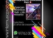 Perú traducción  micrófonos debate equipos interp…
