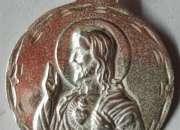 Medalla sagrado corazon de maria en oro y plata