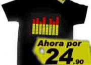 Increible camiseta electrónica dj music, camiseta con ecualizador de led's se mueve al ritmo de tu musica