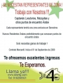 SE NECESITAN REPRESENTANTES DE ZONAS, CAPTANDO LOCUTORIOS O MEZQUITAS.