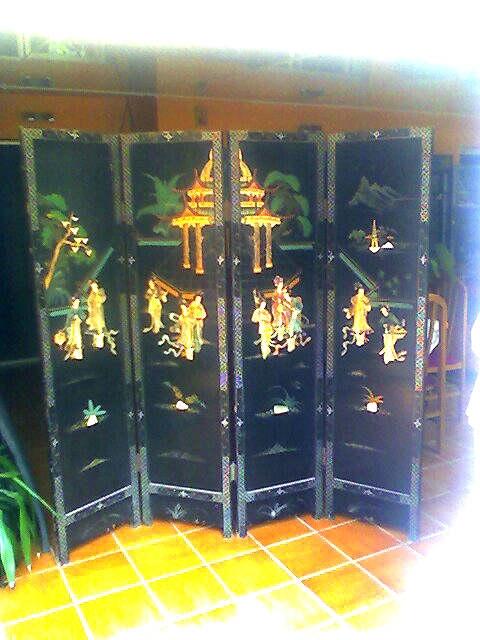 Fotos de Vendo 2 biombos chinos antiguos 4