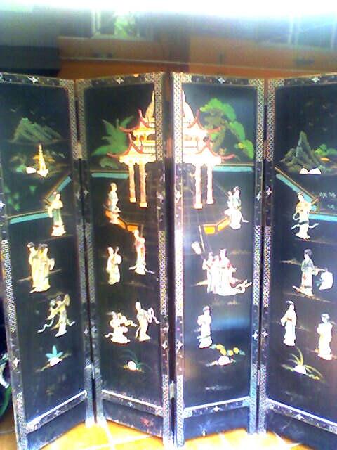 Fotos de Vendo 2 biombos chinos antiguos 1