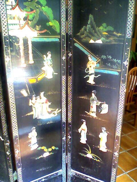 Fotos de Vendo 2 biombos chinos antiguos 2