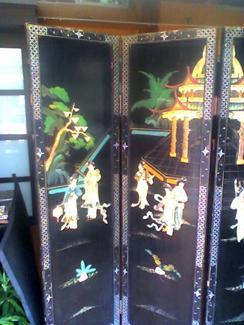 Fotos de Vendo 2 biombos chinos antiguos 3