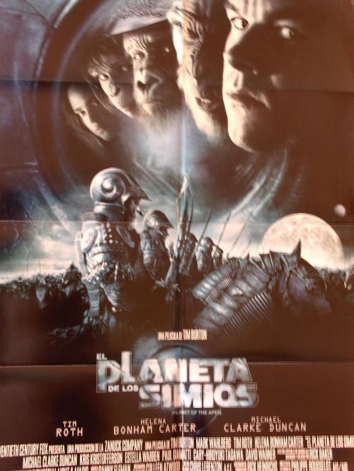 Poster de cine-planeta de los simios-tim burton-2001