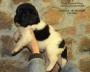 cachorros terranova blanco y negro