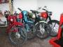 varias motos clásicas restauaradas, documentadas y matriculadas derbi, bultaco ...