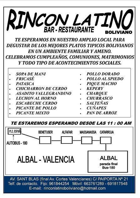 Bar retaurante boliviano