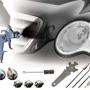 Pistola Pintar HVLP Profesional V2A Inoxidable & muchos Accesorios