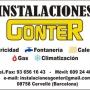 Instalaciones Gonter, s.c.p.    (Electricidad, Fontanería y Climatización)