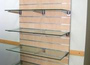 Estanterias panel/cristal arce natural