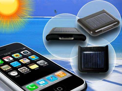Cargador, bateria solar para el iphone