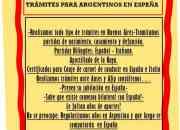 TRAMITES PARA ARGENTINOS