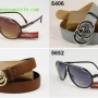 Gafas de sol al por mayor de moda y el cinturón