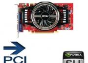 tarjeta grafica MSI N9800GT-MD1G GeForce 9800GT  - 1GB, GDDR3