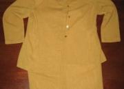 Traje chaqueta verano color mostaza